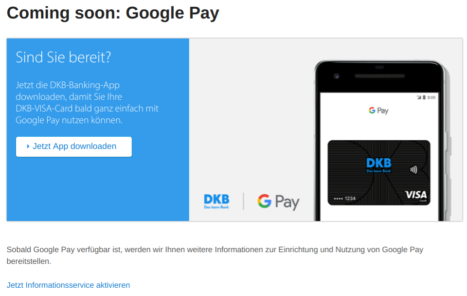 Screenshot DKB GooglePay