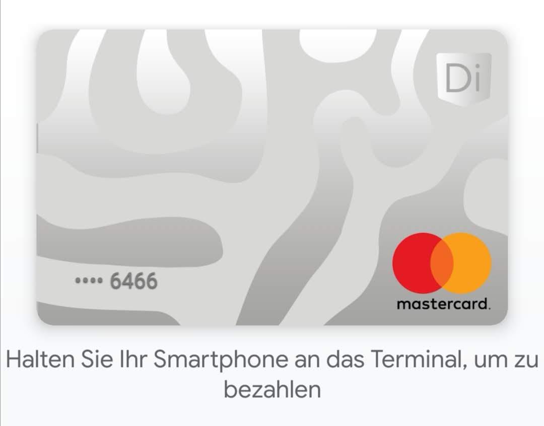 DiPocket MasterCard in Google Pay